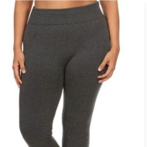 Fleece lined heather gray leggings